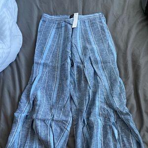 Drew Open Leg Linen Pants